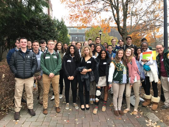Students attend teen hunger summit.