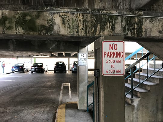 The downtown parking garage has just 5 to 7 years of useful life left, according to city officials.