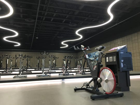 The cycling studio at Sanford Wellness Center at 49th Street and Oxbow Avenue.
