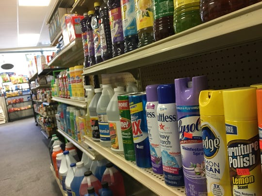 Household products line the shelves at The Knicker Knacker Market in downtown Montgomery.