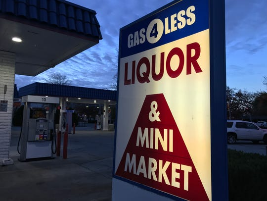 Gas-4-Less on Pine Street in Redding.