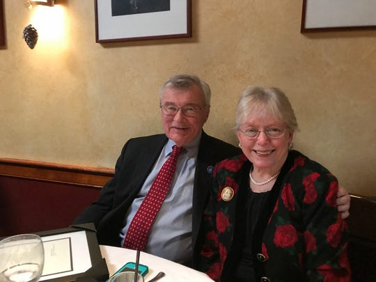 The Employer Legislative Committees of New Jersey, Somerset County, hosted a holiday luncheon on Dec. 29 at Verve in Somerville honoring retiring Freeholder Director Peter Palmer, Somerset County Board of Chosen Freeholders. Palmer is pictured with his wife, Kathleen.