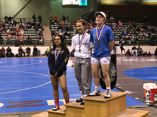 Nora Ochoa won the 105-pound title at the Sierra Nevada Classic at the Reno Livestock Events Center.