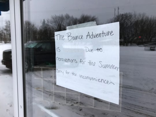 The Bounce Adventure's Waite Park location has been closed since summer with a sign reporting it's under renovation.