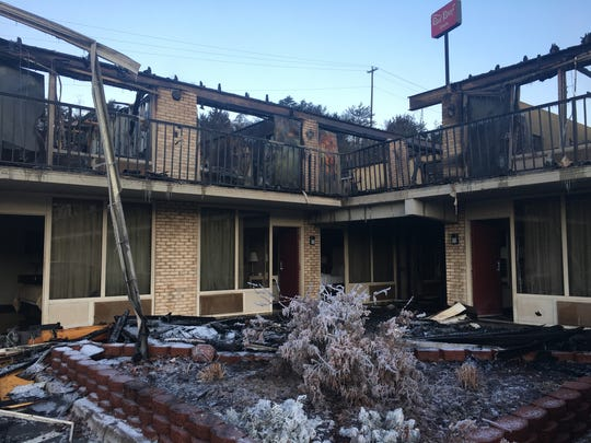 An early-morning fire Friday destroyed the Red Roof Inn on Sangers Lane just outside of Staunton.
