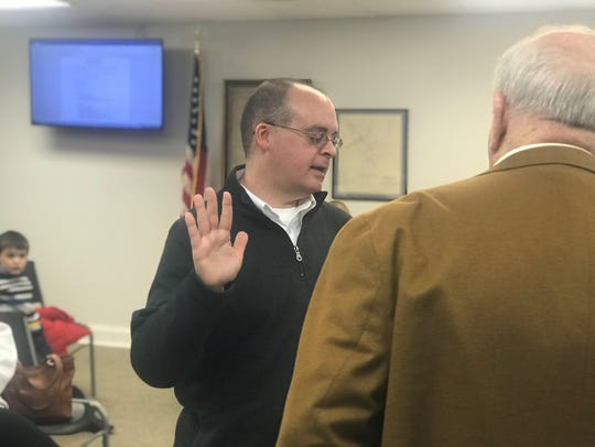 Ashland City Councilman Tim Adkins was sworn in Jan.