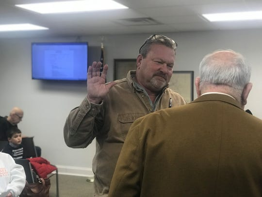 Ashland City Councilman Roger Jackson was sworn in