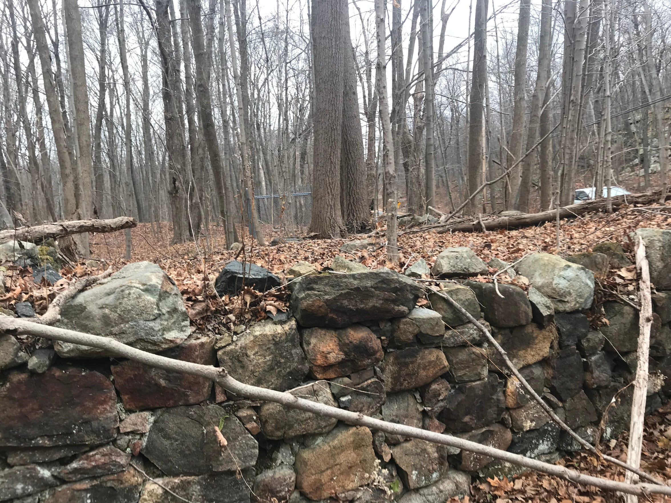Stone walls from the Dodge Mine operation in Jefferson Township, N.J. lie just off Weldon Road. The road runs through a county-owned preservation as seen on Dec. 8, 2017.