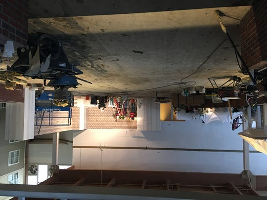 The restaurant area of the former Sheraton has been gutted to make way for renovations.