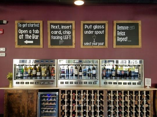 The self-serve wine machine at GenuWine Arizona.