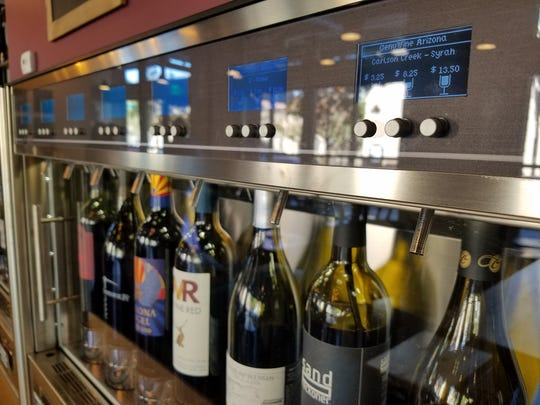 Customers can choose their own wines and the size of pours they want at GenuWine Arizona.