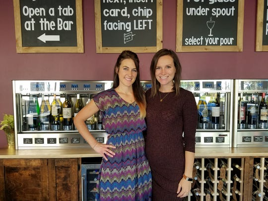 Emily Rieve and Lindsey Schoenemann are the owners of GenuWine Arizona in downtown Phoenix.