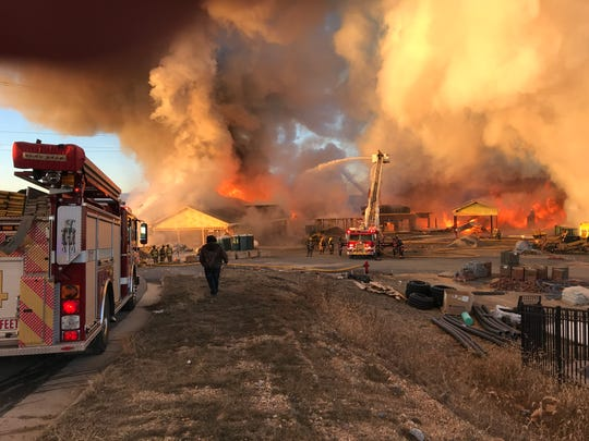 A fire Sunday morning at Fishersville site near the