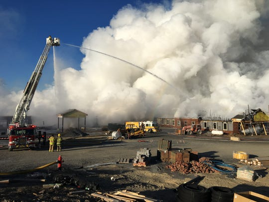 A nursing home under construction burned in Fishersville.