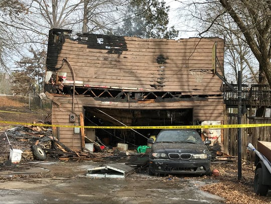 A house is severely damaged after a fire at 500 East