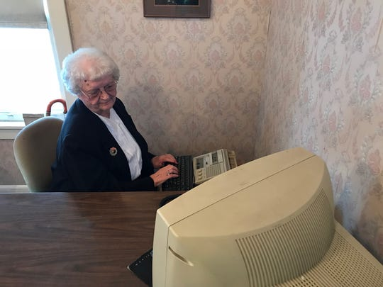 Mona Zipay's career as a secretary for John M. Dorner Adjustment Co. in Johnson City spanned 58 years.