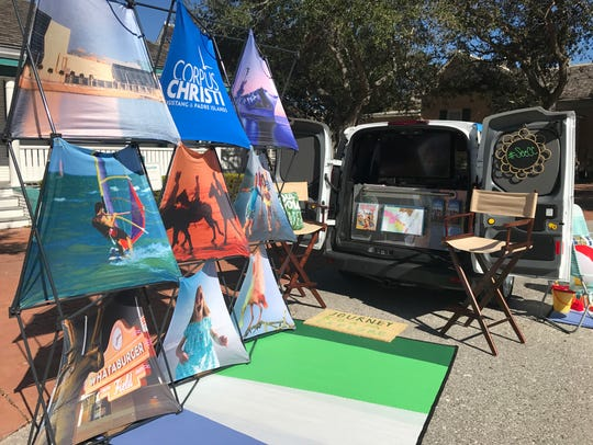 The CVB's mobile visitor information center is an upfitted
