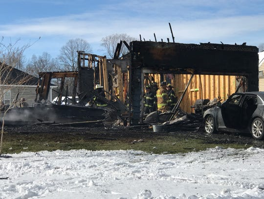 A fire destroyed a home on Preserve Drive in Lewes