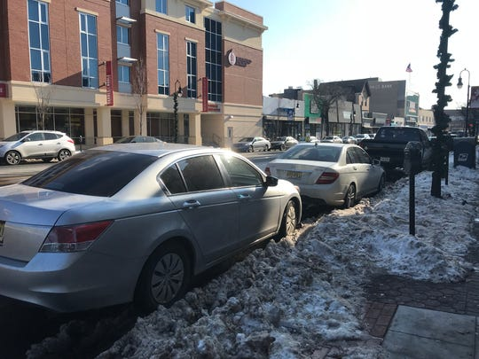 Cars parked on Broad Street in Bloomfield on Tuesday, Jan. 9, 2018. The Township Council learned about proposed parking meter upgrades the night prior.