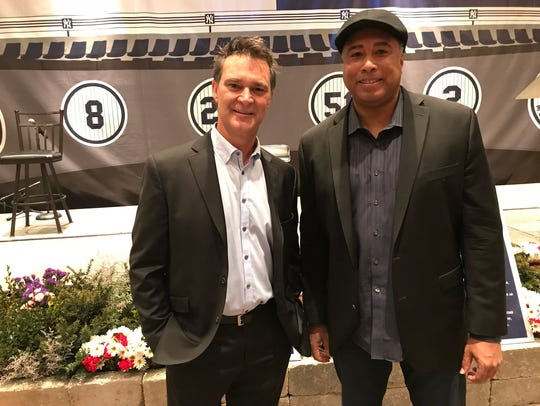 Don Mattingly (left) and Bernie Williams