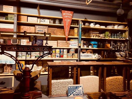 A general store from the Montrose Township south of Mount Horeb is on display at the Driftless Historium.