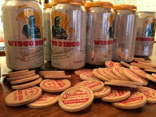 New six-packs of 12-ounce Wisco Disco cans will come with a wooden nickel good for one free Stillmank tap beer at participating bars and restaurants.