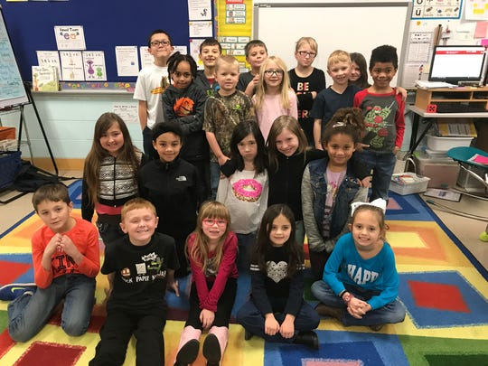 Kim Martin's second-grade class at Mead Elementary Charter School in Wisconsin Rapids