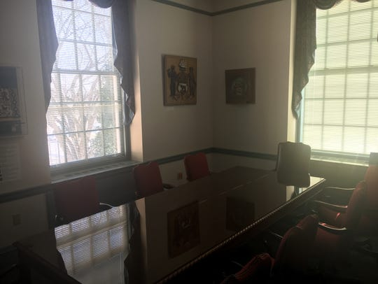A small meeting room on the second-floor of Legislative