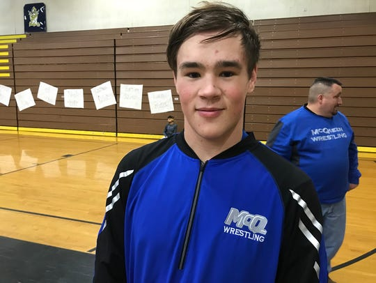 McQueen senior Joe Miller will wrestle for West Point