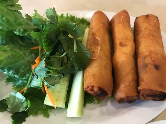 The Vietnamese spring rolls are lightly fried and a great starter at Viêt.