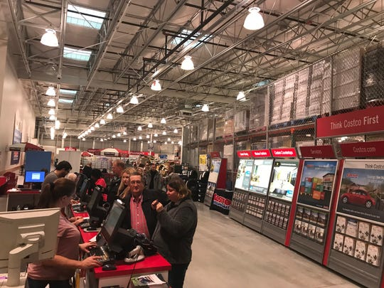 People lined up to join Costco at the Rochester store
