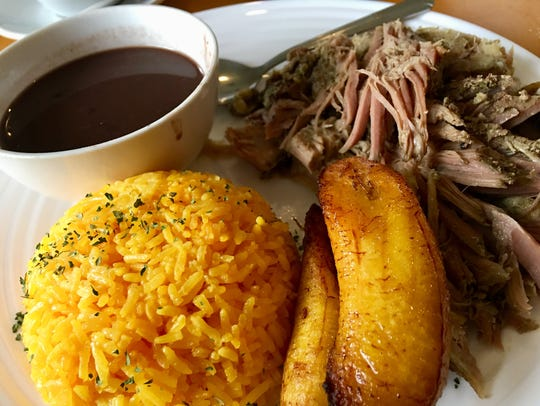 Pernil at Latin Flavor was citrusy-garlicky aromatic