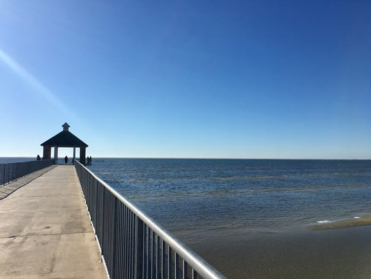 Visitors enjoy the view of Lake Pontchartrain from Fontainebleau State Park in Mandeville.