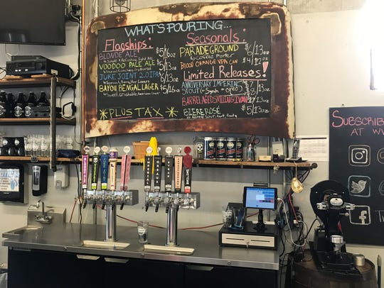 Tin Roof Brewing's tap-room only brews range from sours