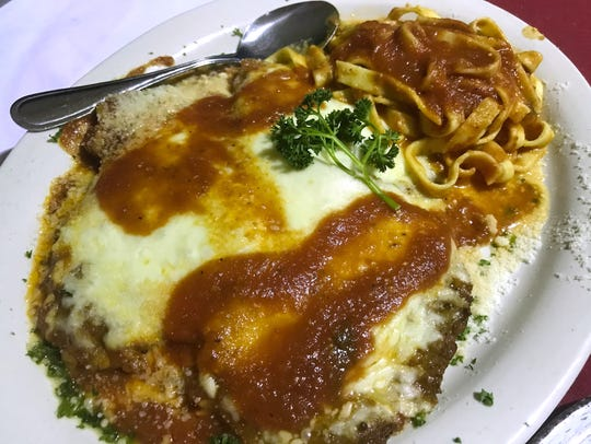 Eggplant, veal and chicken parmigiana was on the list of specials at Trattoria Mangia.