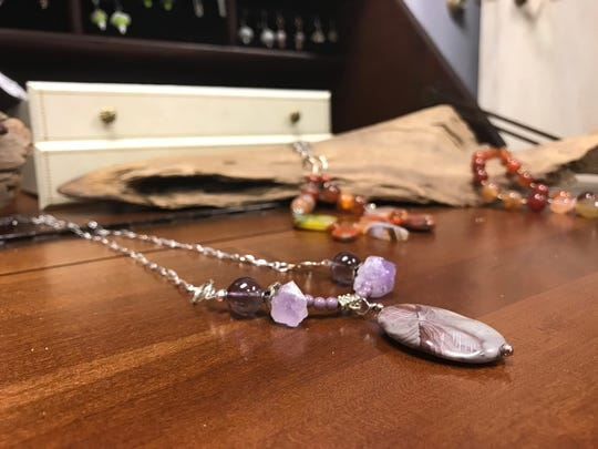 A necklace on display at the 319 Gallery and Bistro.