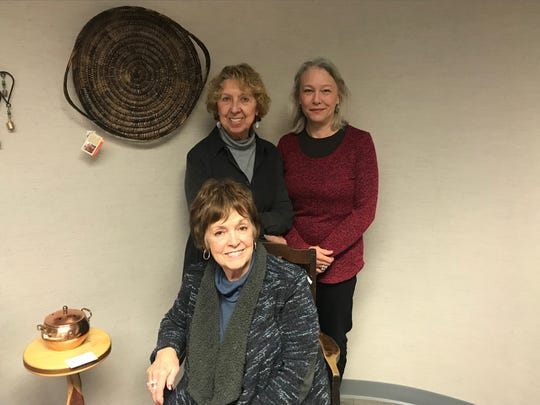 Three friends are at the helm of running the 319 Bistro and Gallery; June Zenter (center), Deanna Reitz (back right) and Shirley Van Slate