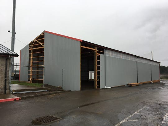 Construction of an indoor training facility at Volcanoes
