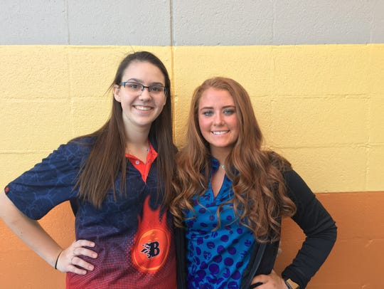 Blackman's Baileigh Snow (left) and Siegel's Danielle