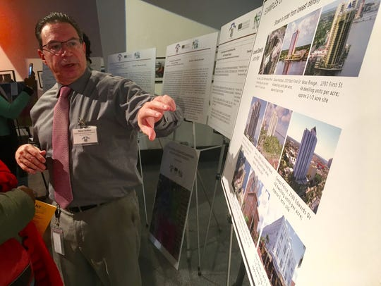 Steve Belden, community development director for the city of Fort Myers, explains something about the midtown plan during a public meeting in January at Sidney & Berne Davis Art Center.