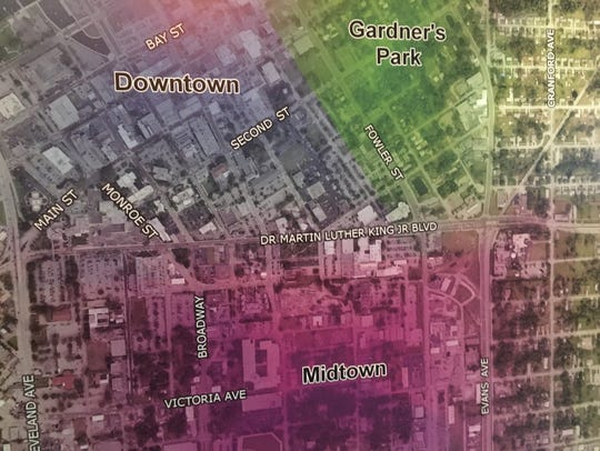 Midtown under the latest plan is bounded by Cleveland