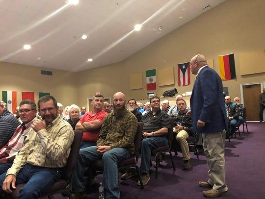 Bradley Marr talks to Vernon Parish church leaders