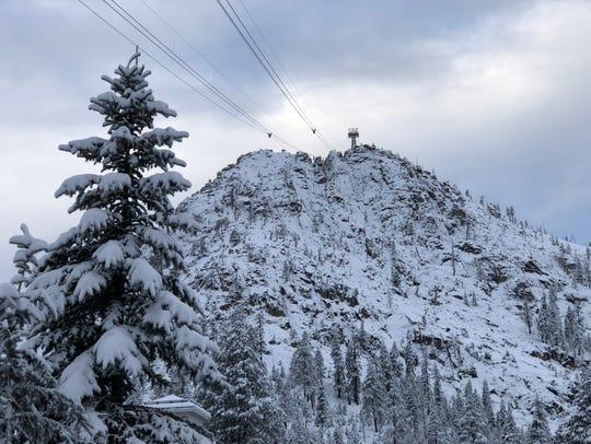 New snow at Squaw Alpine on Jan. 19.