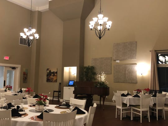The dining room of Madeleine Fine Dining is spacious and inviting.