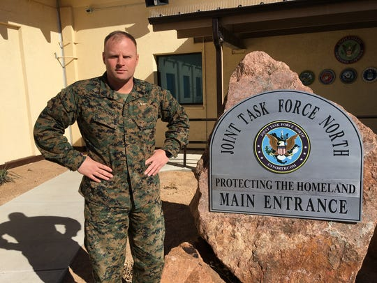 Sgt. Maj. Aaron G. McDonald is the first Marine to