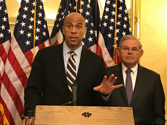 Cory Booker and Bob Menendez
