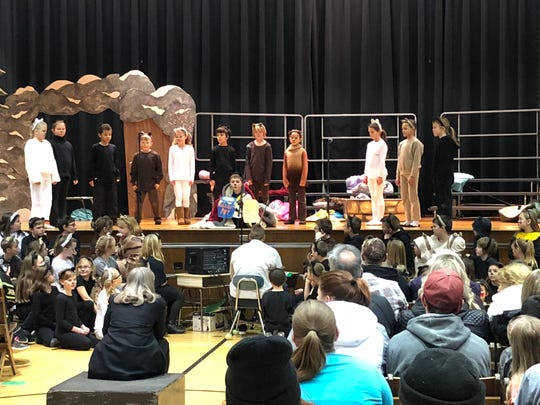 """The SVE Elementary School, under the direction of music teacher, Kay Brown, put on a musical play last week, """"The Share Bears."""""""