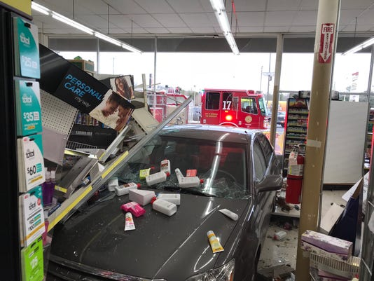 Car into store