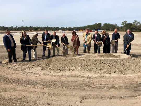 Maverick Boat Group's groundbreaking ceremony was attended by local governmental and company leadership.