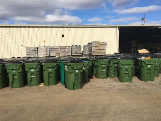 All in One Recycling facility at 824 Industrial Blvd.